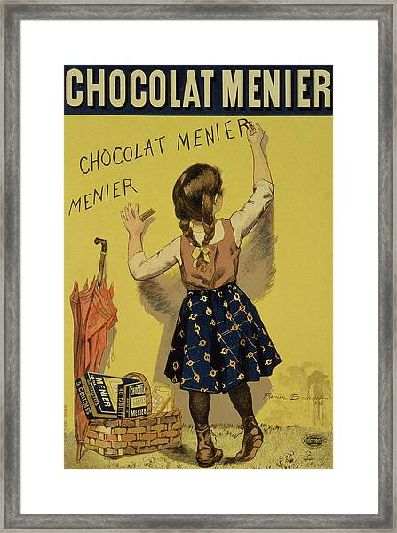 Vintage Poster Advertising Chocolate Framed Print