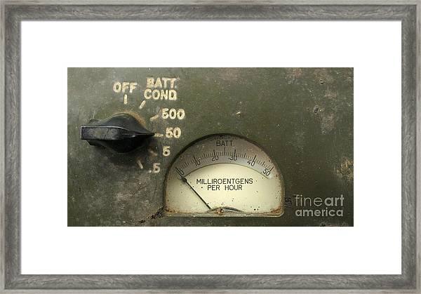 Vintage Radiation Meter Framed Print