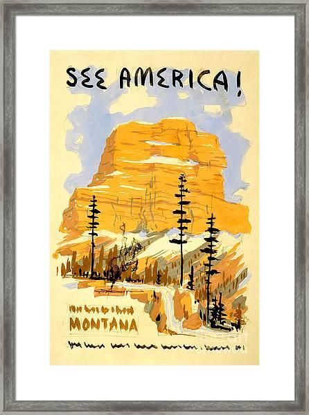 Vintage See America Travel Poster Framed Print
