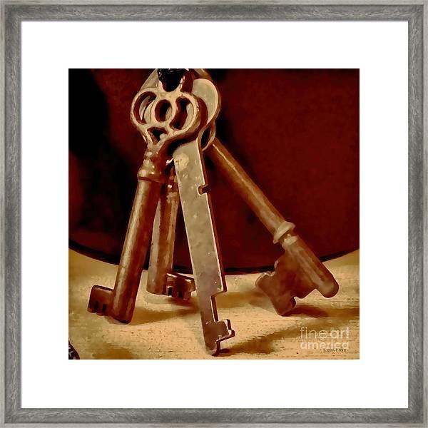 Vintage Skeleton Keys I Framed Print
