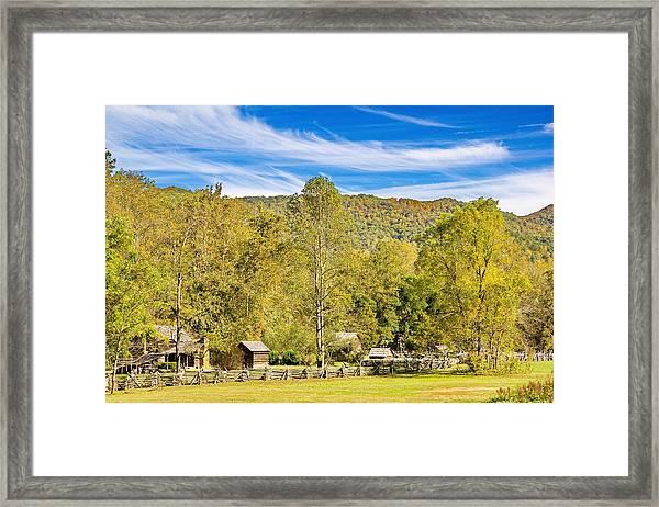Vintage Smoky Mountain Farm Framed Print