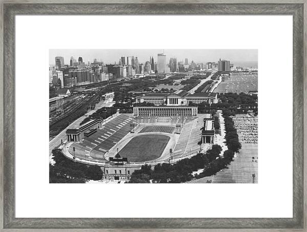 Vintage Soldier Field - Chicago Bears Stadium Framed Print