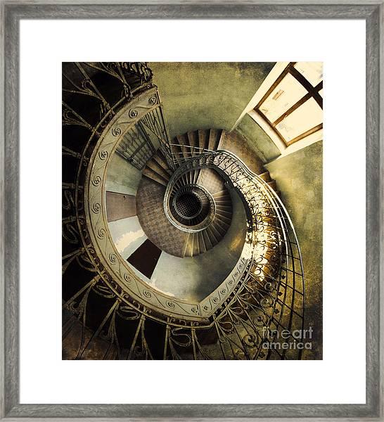 Vintage Spiral Staircase Framed Print