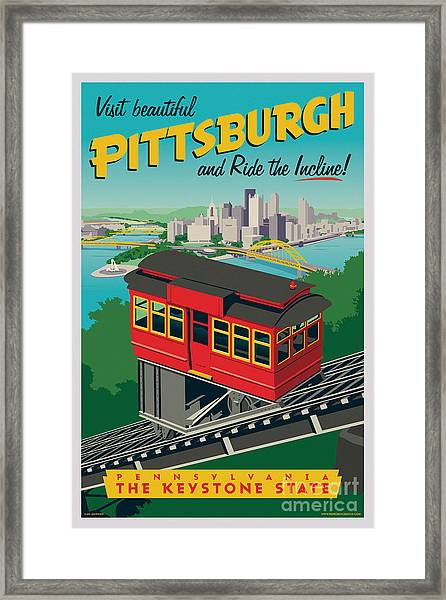 Pittsburgh Poster - Incline Framed Print