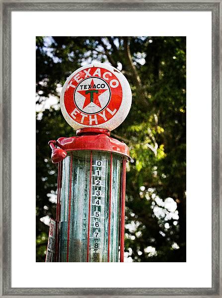 Vintage Texaco Gas Pump Framed Print