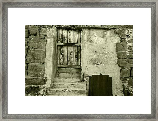 Vintage Textures In Black And White Framed Print