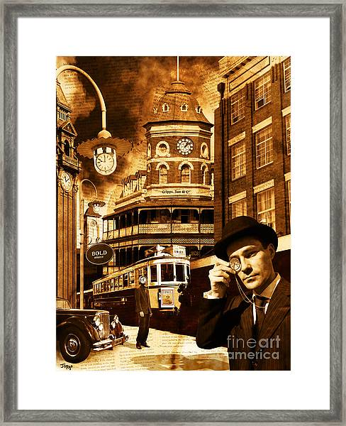 Bold Street - The Monocle Of Time Framed Print