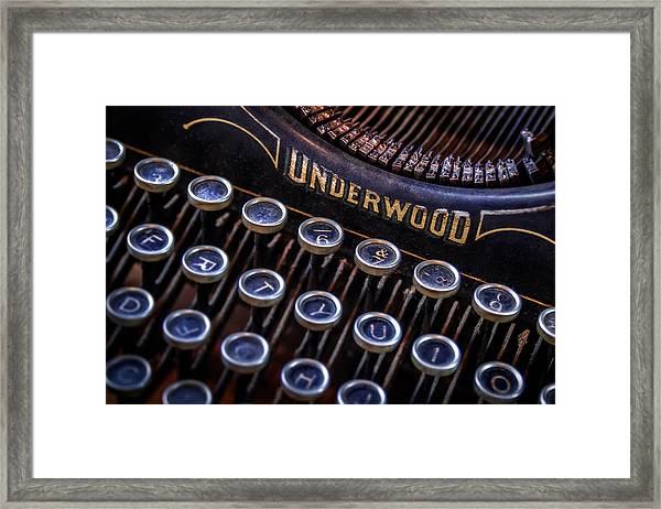 Vintage Typewriter 2 Framed Print