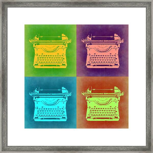 Vintage Typewriter Pop Art 1 Framed Print