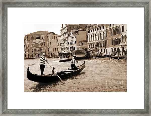 Vintage Venice Framed Print