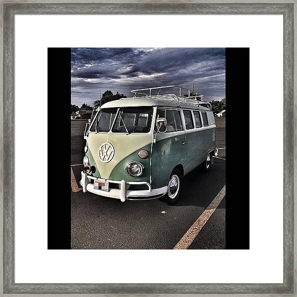 Vintage Volkswagen Bus 1 Framed Print