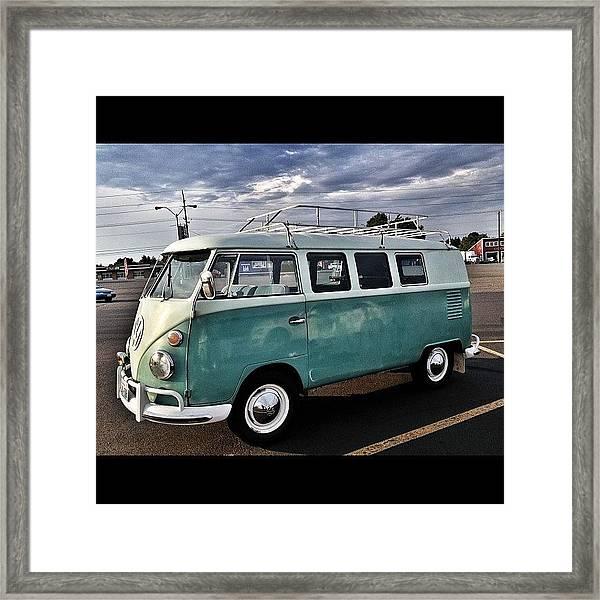 Vintage Volkswagen Bus 2 Framed Print