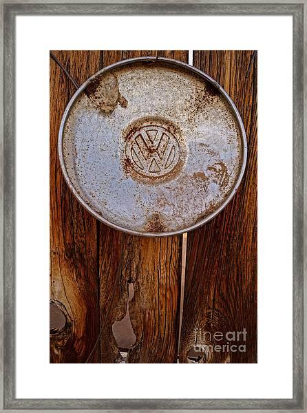 Vintage Vw Hubcap Framed Print
