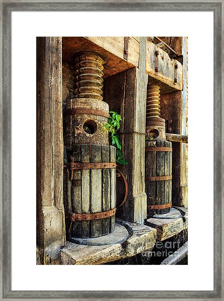 Vintage Wine Press Framed Print