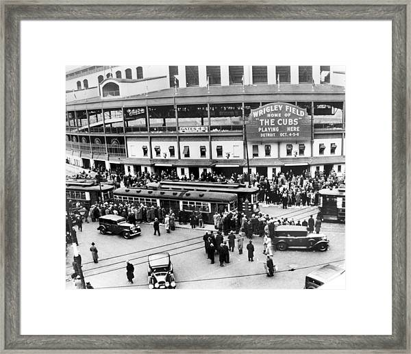 Vintage Wrigley Field Framed Print