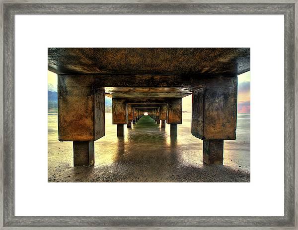 Vintaged Hanalei Pier  Framed Print