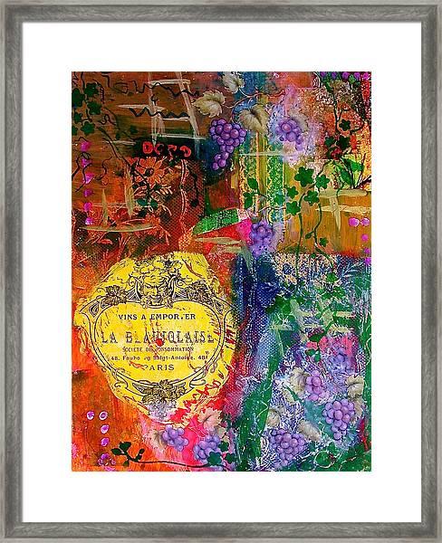 Vintner Label Framed Print