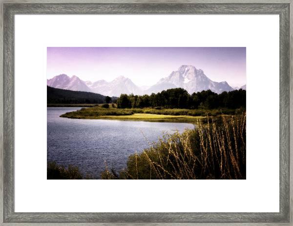 Violet Tetons Framed Print