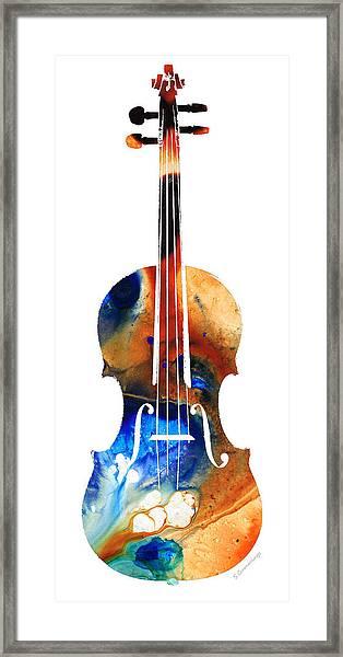 Violin Art By Sharon Cummings Framed Print