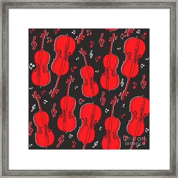 Violin Pattern Framed Print