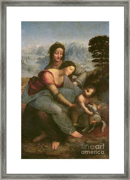 Virgin And Child With Saint Anne Framed Print