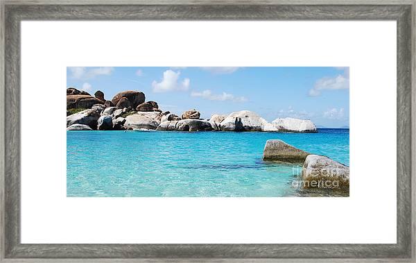 Virgin Islands The Baths Framed Print