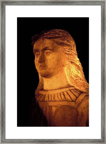 Virgin Mary Statue Framed Print