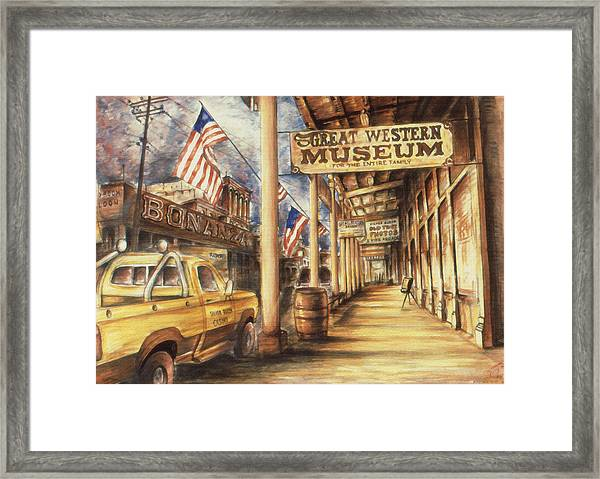 Virginia City Nevada - Western Art Painting Framed Print