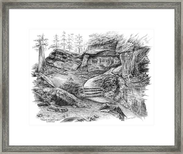 Virginia Kendall Ledges - Cuyahoga Valley National Park Framed Print