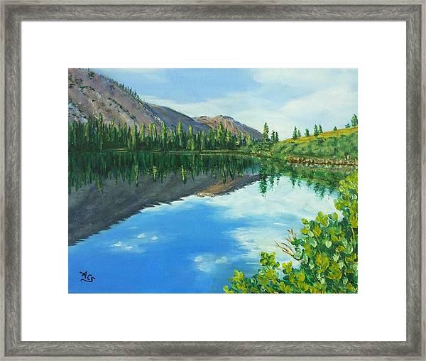 Virginia Lake Framed Print