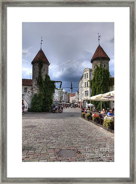 Viru Gate Tallinn Estonia Framed Print