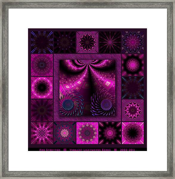 Virulent Lightwaves Redux  Framed Print