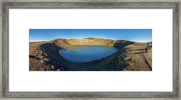 Viti, A Huge Explosion Crater, Northern Framed Print