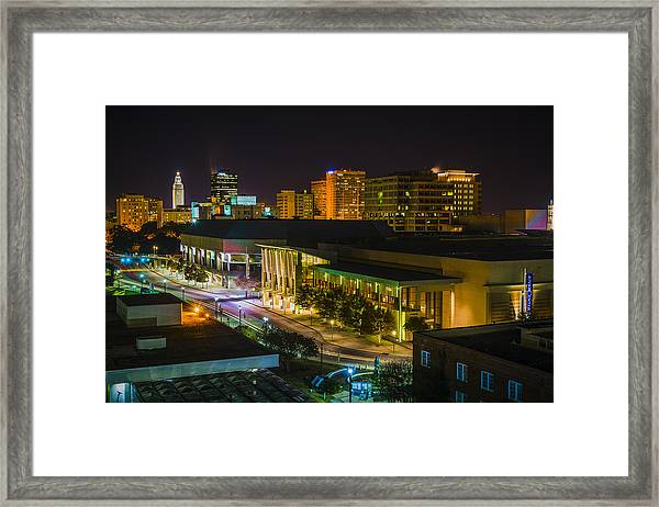 Vividly Downtown Baton Rouge Framed Print