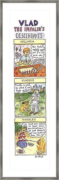 Vlad The Impaler's Descendants Framed Print