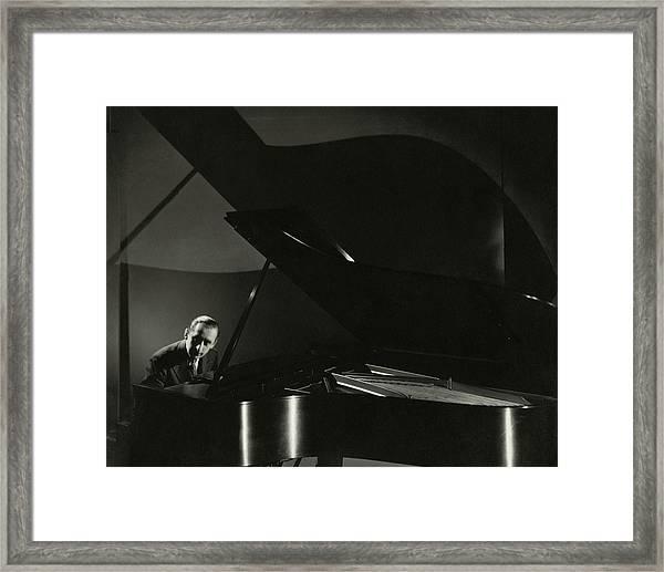 Vladimir Horowitz At A Grand Piano Framed Print