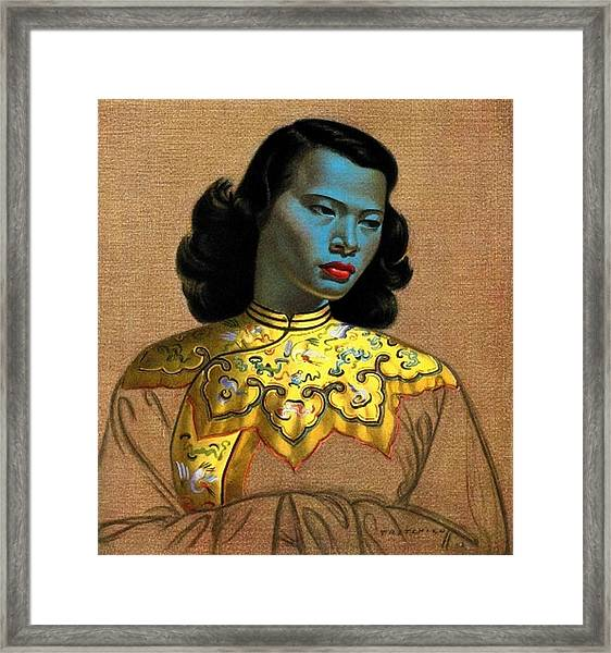 Vladimir Tretchikoff's 'the Chinese Girl, The Green Lady' Framed Print