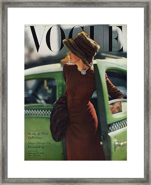 Vogue Cover Featuring A Woman Getting Framed Print