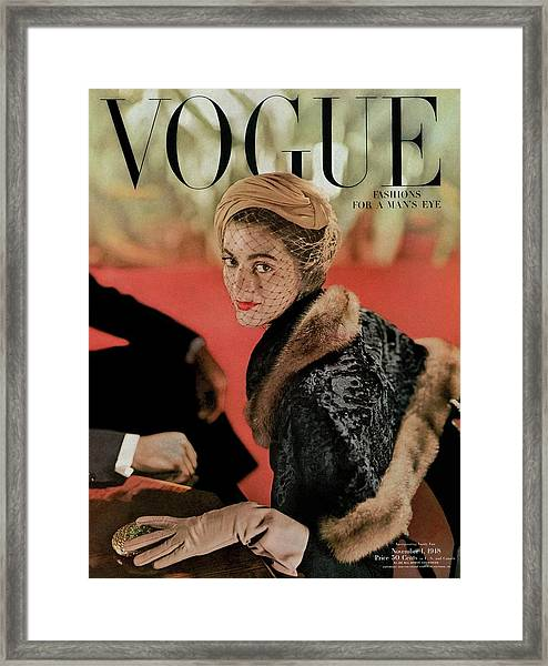 Vogue Cover Featuring Carmen Dell'orefice Framed Print