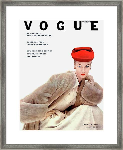 Vogue Cover Of Janet Randy Framed Print