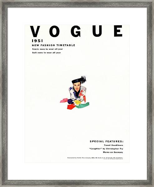 Vogue Magazine Cover Featuring Model Lillian Framed Print