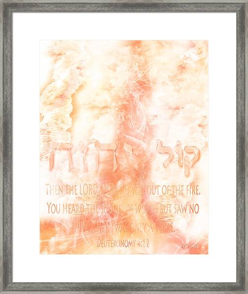 Voice Of Fire Framed Print