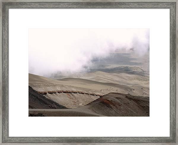 Volcanic Deposits Framed Print