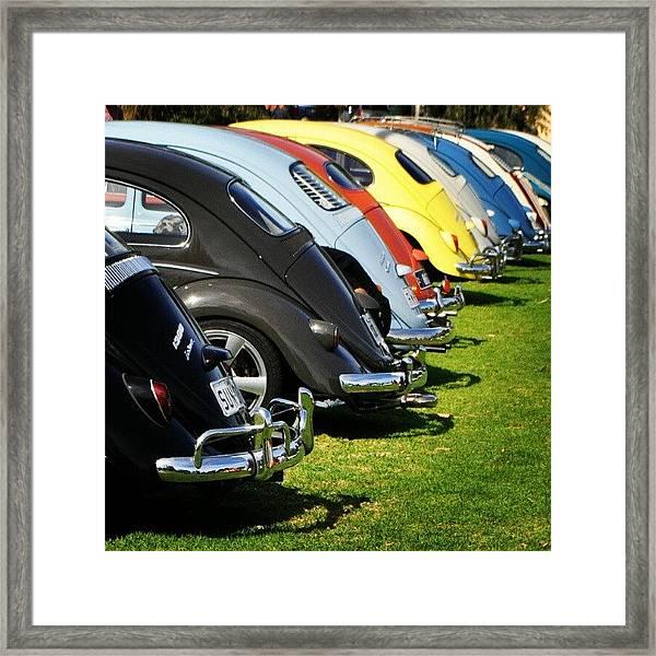 Volkswagen Line Up Framed Print