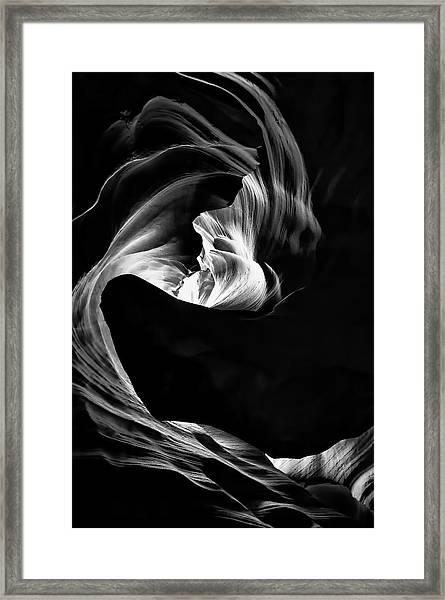 Vortex Of Lights Framed Print
