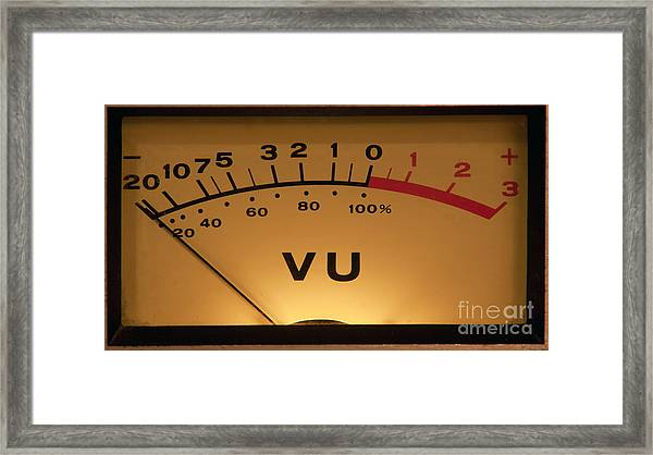 Vu Meter Illuminated Framed Print