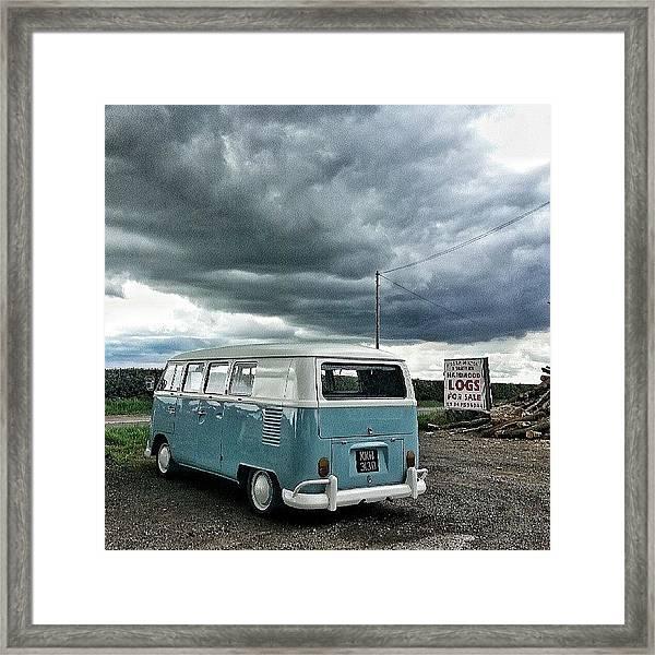 #vw #camper #bus #splitty #splitscreen Framed Print