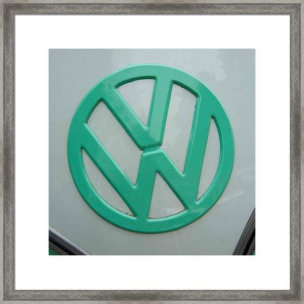 Vw Logo Framed Print