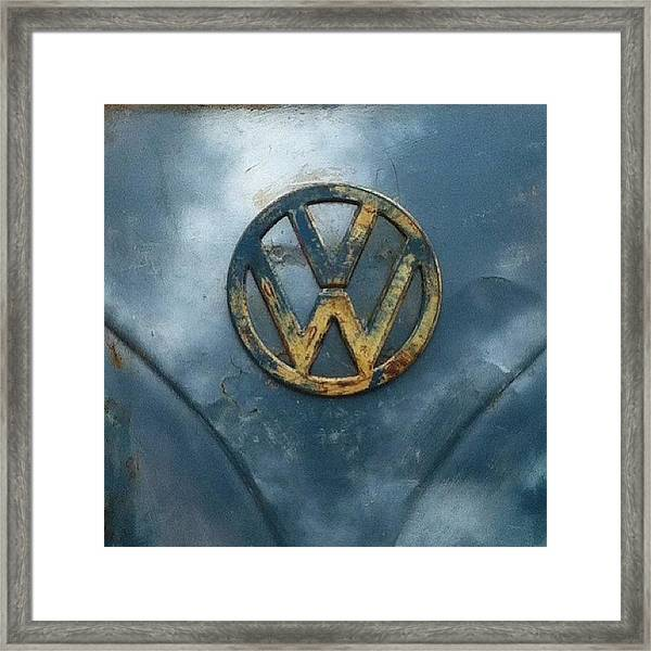 #vw #vdub #vwbus #vwlove #vwcamper Framed Print