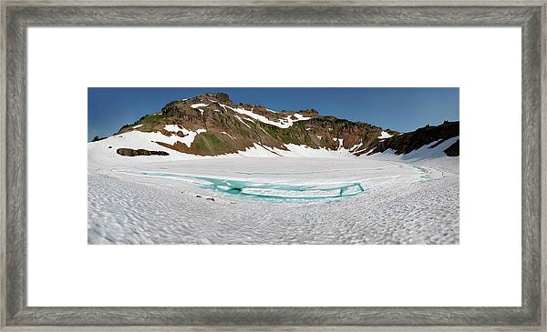Wa, Goat Rocks Wilderness, Snow And Ice Framed Print